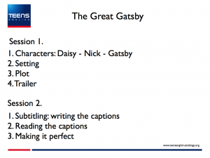 The Great Gatsby Trailer Subtitling project